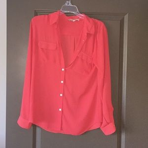 EUC Orange Loft blouse